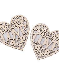 Недорогие -Рождество / Свадьба деревянный Свадебные украшения Сердце / Креатив / Свадьба Все сезоны