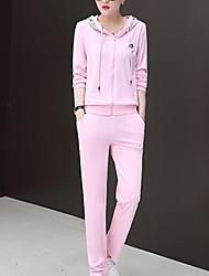 economico -Per donna Felpa con cappuccio Monocolore / Alfabetico Pantalone