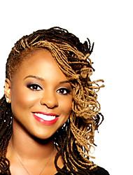 Недорогие -Волосы для кос Кудрявый Вязание крючком для волос 100% волосы канекалона 80 корней / пакет косы волос Нейтральный 40 см Парик в афро-американском стиле Отпуск / Праздники Африканские косы