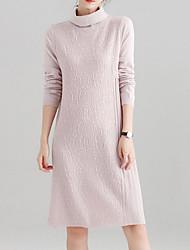 Недорогие -Жен. Тонкие Оболочка Платье Хомут Средней длины