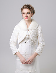 cheap -3/4 Length Sleeve Faux Fur Wedding / Party / Evening Women's Wrap With Pendant / Patterned Shrugs