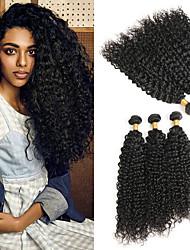 baratos -3 pacotes Cabelo Peruviano Onda de Água Cabelo Humano Extensões de Cabelo Natural 8-24 polegada Tramas de cabelo humano Melhor qualidade / Nova chegada / Venda imperdível Extensões de cabelo humano