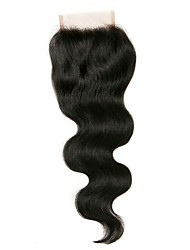 cheap -Fulgent  Sun Peruvian Hair / Body Wave 4x4 Closure Wavy Free Part Chinese Lace Human Hair Women's Best Quality / Hot Sale / Lace Closure Christmas / Christmas Gifts / Wedding