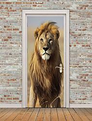 Недорогие -Дверные наклейки - 3D наклейки / Наклейки для животных Животные / Геометрия Детская