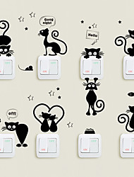 Недорогие -Декоративные наклейки на стены / Наклейки на холодильник - Простые наклейки Животные Гостиная / В помещении