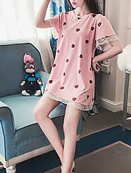 abordables -Mujer Escote Redondo Babydoll y Slip Pijamas Un Color