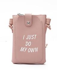 baratos -Mulheres Bolsas PU Telefone Móvel Bag Botões Preto / Rosa / Cinzento
