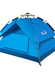 Недорогие -BSwolf 3 человека на открытом воздухе Семейный кемпинг-палатка С защитой от ветра Дожденепроницаемый Воздухопроницаемость Автоматический Однокомнатная Двухслойные зонты 1500-2000 mm Палатка для