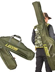 baratos -Leo dobrável vara de pesca sacos de sacos de pesca 420d zipado caso pólo peixe ferramentas de armazenamento titular caso saco engrenagem enfrentar pesca 100 cm / 150 cm