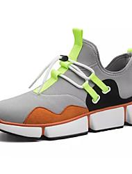 Недорогие -Муж. Сетка / Полиуретан Осень Удобная обувь Спортивная обувь Беговая обувь Контрастных цветов Черный / Оранжевый / Зеленый