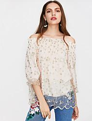 cheap -Women's Cute Blouse - Floral