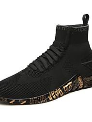 Недорогие -Муж. Комфортная обувь Трикотаж / Сетка Лето Спортивные / На каждый день Спортивная обувь Беговая обувь / Для прогулок Дышащий Белый / Черный