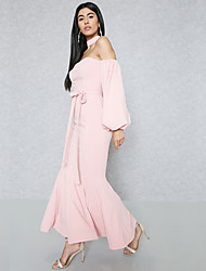 cheap -Women's Street chic / Sophisticated Bodycon / Sheath / Trumpet / Mermaid Dress - Solid Colored Backless / Lace up