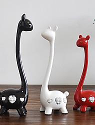 baratos -3pçs Resina Moderno / Contemporâneo / Estilo Europeu para Decoração do lar, Presentes / Home Decorações Presentes