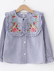 preiswerte -Kinder Mädchen Solide / Blumen Langarm Bluse