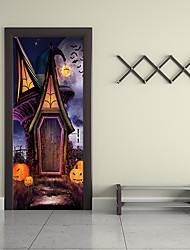 economico -Adesivi per porte - Adesivi 3D da parete / Holiday Wall Stickers Paesaggi / Halloween Stanza per bambini / Camera dei bambini