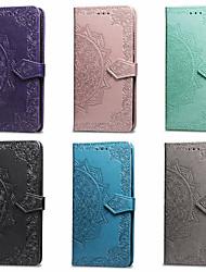Недорогие -Кейс для Назначение SSamsung Galaxy J6 / J4 Кошелек / Бумажник для карт / со стендом Чехол Мандала Твердый Кожа PU для J6 / J4
