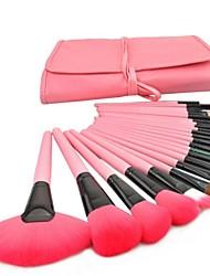Недорогие -24pcs Кисти для макияжа профессиональный Макияж Закрытая чашечка Деревянные / бамбуковые
