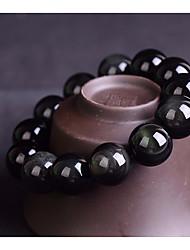 cheap -Women's Obsidian Beads Strand Bracelet - Creative Simple, Basic, Casual / Sporty Bracelet Black For Daily / School