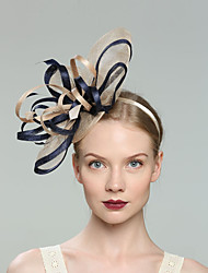cheap -Flax Fascinators with Net 1pc Wedding / Special Occasion Headpiece