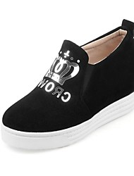 cheap -Women's Comfort Shoes Suede Fall & Winter Loafers & Slip-Ons Platform Black / Gray / Red