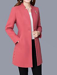 economico -Cappotto Per donna Moda città / sofisticato - Tinta unita