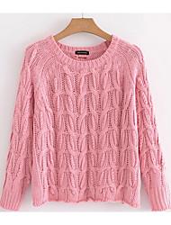 billige -Dame Basale Pullover - Ensfarvet