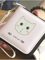cheap -Women's Bags PU(Polyurethane) Wallet Pattern / Print Black / Blushing Pink / Light Grey