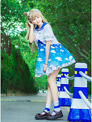 cheap -Inspired by Love Live Minami Kotori Anime Cosplay Costumes Cosplay Suits Bowknot 1 Bracelet / Coat / Dress For Women's Halloween Costumes