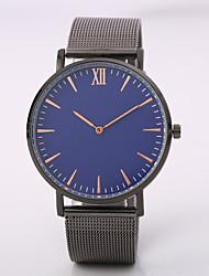 Недорогие -Муж. Наручные часы Кварцевый Черный / Серебристый металл / Розовое золото Повседневные часы Крупный циферблат Аналоговый Мода Элегантный стиль -
