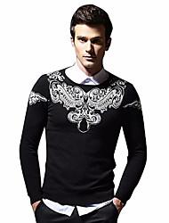 Недорогие -Муж. Классический Пуловер - Огурцы