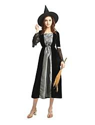 billige -Heks Dragter Dame Halloween / Karneval / Barnets Dag Festival / Højtider Halloween Kostumer Sort Ensfarvet / Halloween Halloween