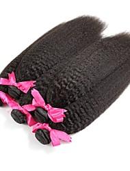 Недорогие -6 Связок Малазийские волосы Вытянутые Необработанные / Натуральные волосы Подарки / Косплей Костюмы / Человека ткет Волосы 8-28 дюймовый Естественный цвет Ткет человеческих волос