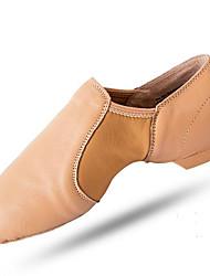 Недорогие -Жен. Обувь для джаза Свиная кожа На плоской подошве На плоской подошве Танцевальная обувь Черный / Миндальный