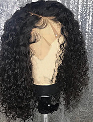 cheap -Remy Human Hair Lace Front Wig Brazilian Hair Loose Curl Wig Bob Haircut 150% With Baby Hair / Natural Hairline / African American Wig Women's Short Human Hair Lace Wig
