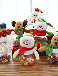 Недорогие -3pcs рождественские конфеты могут рождественские сахара держатель деньги коробки рождественский стол таблицы декор сахар хранения коробка конфеты бутылка может
