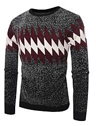 billige -Herre Basale Pullover - Farveblok