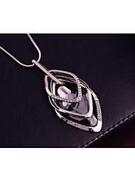 Недорогие -Жен. Цирконий Стильные Принц Уэльский Ожерелья с подвесками длинное ожерелье ожерелье троицы Резина Стразы Креатив Дамы Стиль Геометрия модный Белый 70 cm Ожерелье Бижутерия 1шт Назначение