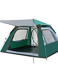 Недорогие -TANXIANZHE® 4 человека Семейный кемпинг-палатка На открытом воздухе С защитой от ветра, Дожденепроницаемый, Воздухопроницаемость Однослойный Автоматический Палатка 2000-3000 mm для