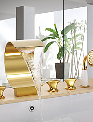 economico -Rubinetto vasca - Semplici Ti-PVD Autoportante Valvola in ceramica