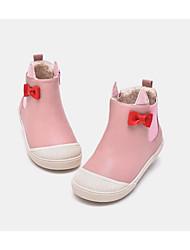povoljno -Djevojčice Cipele PU Jesen zima Udobne cipele Čizme Mašnica za Djeca / Dijete koje je tek prohodalo Zlato / Pink