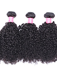 cheap -3 Bundles Brazilian Hair Kinky Curly Human Hair One Pack Solution / Weave 10-26 inch Human Hair Weaves Natural Human Hair Extensions All