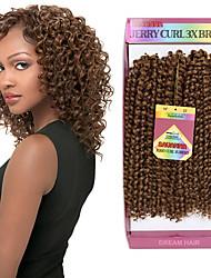 baratos -Cabelo para Trançar Encaracolado / Crochê Tranças Encaracoladas / Extensões de Cabelo Natural Cabelo Sintético Tranças de cabelo Diário