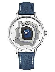 Недорогие -CADISEN Для пары Наручные часы Японский Японский кварц Стеганная ПУ кожа Синий / Коричневый 30 m Защита от влаги Новый дизайн Cool Аналоговый Мода Цветной - Синий / белым Розовое золото / Белый