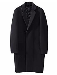 Недорогие -Муж. Длинная Пальто Однотонный / Длинный рукав