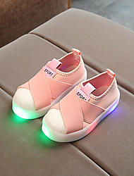 cheap -Boys' / Girls' Shoes Canvas Spring &  Fall Comfort / Light Up Shoes Sneakers LED for Kids / Toddler Black / Gray / Pink