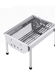 cheap -BSwolf Camping Grill / Camping Stove Outdoor Cookware Folding Stainless steel Outdoor for Camping Silver