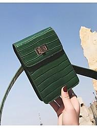 Недорогие -Жен. Мешки PU Мобильный телефон сумка Пуговицы Черный / Желтый / Коричневый
