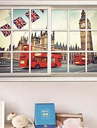 cheap -Window Film & Stickers Decoration City View Cities PVC(PolyVinyl Chloride) Window Sticker