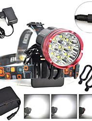 abordables -Lampe Avant de Vélo / Phare Avant de Moto LED Eclairage de Velo LED Cyclisme Professionnel, Antichocs, Etanche Batterie rechargeable 18000 lm DC48V Blanc Naturel Camping / Randonnée / Spéléologie